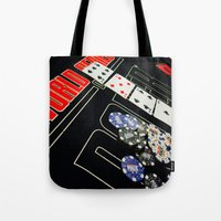 poker Tote Bags featuring poker by yahtz designs