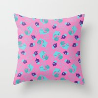 dolphins Throw Pillows featuring dolphins by lindseyclare