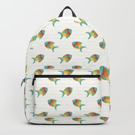 Turquoise Fish Backpack
