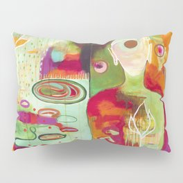 """Rooted In Love"" Original Painting by Flora Bowley Pillow Sham"