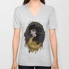 Aries girl | Gothic zodiac Unisex V-Neck