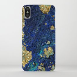 Indigo Teal and Gold Ocean iPhone Case
