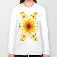 daisy Long Sleeve T-shirts featuring Daisy by Amanda Finan