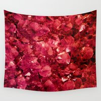 ruby Wall Tapestries featuring Ruby by Lotus Effects