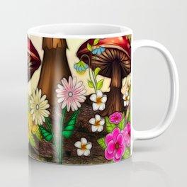 Shroomvilla Summer Whimsical Fantasy Art Coffee Mug