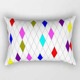 A Harlequin Design Like Stained Glass Rectangular Pillow