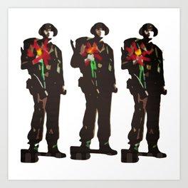 Flowers Not Guns Art Print
