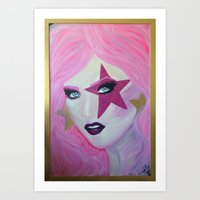 jem Art Prints featuring Jem Star by Clare Chapman