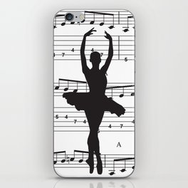 ballerina art, music Notes , girls nursery art, ballerina décor , girls nursery art , iPhone Skin