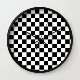 Checkered Flag Wall Clock