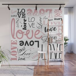 Love, Love, Love Wall Mural