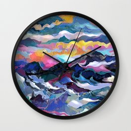 Montain Sunrise Wall Clock