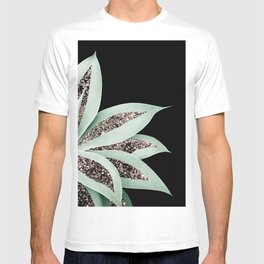 Agave Finesse Glitter Glam #2 #tropical #decor #art #society6 T-shirt