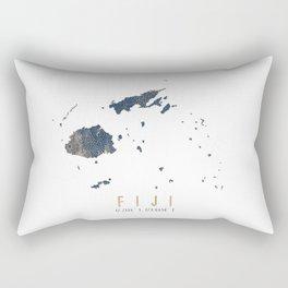 Blue and Gold Map of Fiji Rectangular Pillow