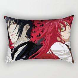 Black Butler Rectangular Pillow