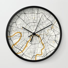 Moscow map Wall Clock