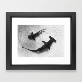 Shark Yin Yang Framed Art Print