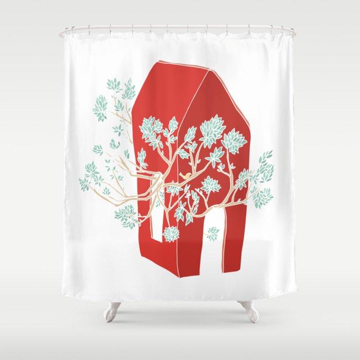 Break Free In Red Shower Curtain