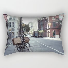 Bikes in Soho Rectangular Pillow