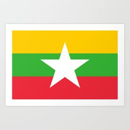 flag of Myanmar Art Print