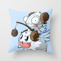 invader zim Throw Pillows featuring Invader Poro Pix by HelloTwinsies