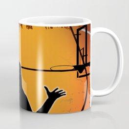 Basketball Player Silhouette Coffee Mug