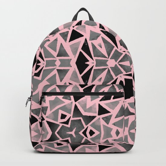 Pink Stones Mosaic Backpack