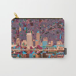 indianapolis city skyline purple Carry-All Pouch