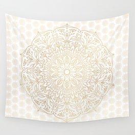 Gold Mandala Wall Tapestry