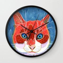 Lani - Pop Art Cat Portrait Wall Clock
