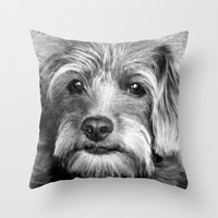 coco Throw Pillows featuring COCO by KarenHarveyCox