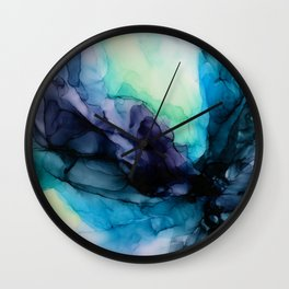 Sweet Pea Pastel Abstract Chaos | Calming Fluid Art Wall Clock