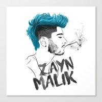 zayn malik Canvas Prints featuring Zayn Malik by artisticfanny
