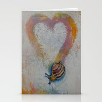 snail Stationery Cards featuring Snail by Michael Creese