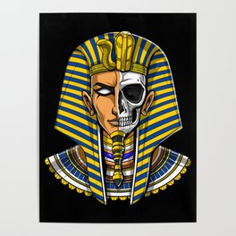 Egyptian Pharaoh Skull Poster