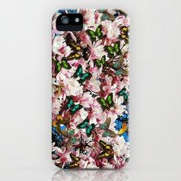 Magnolie mit Schmetterlingen  iPhone Case