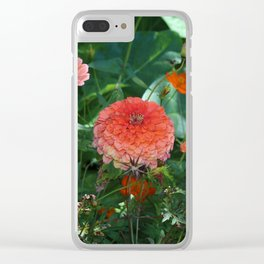 Flowers in Juicy Citrus Colors Clear iPhone Case