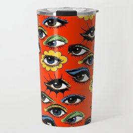 60s Eye Pattern Travel Mug