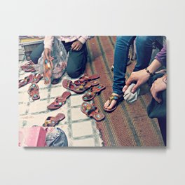 India Shoes Shop Metal Print