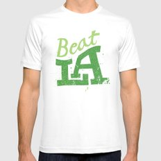 Beat LA MEDIUM Mens Fitted Tee White