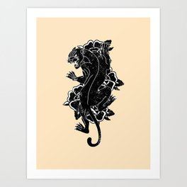 Panther Tattoo Flash Art Print