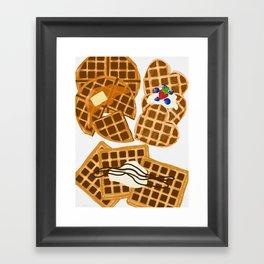 Waffle On Framed Art Print