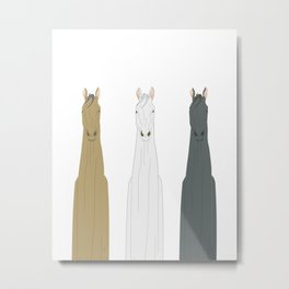 Triple Horses Metal Print