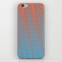 Waves 1A (hot to cold) iPhone Skin