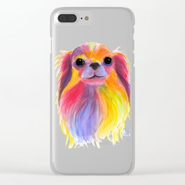 Nosey Dog Chihuahua ' TiLLY ToTS ' by Shirley MacArthur Clear iPhone Case