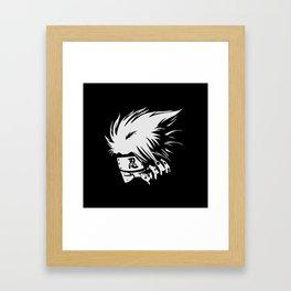 Kakashi Hatake Face Framed Art Print
