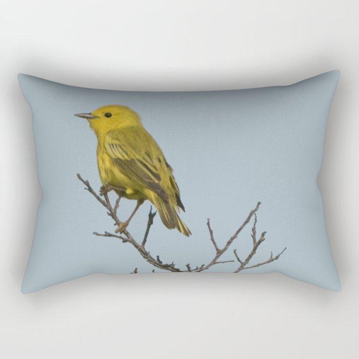Yellow Warbler Rectangular Pillow