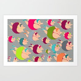 Synchronised Spotty Swimmers Art Print
