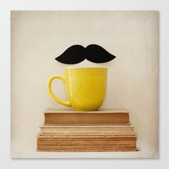 Mr. Stache  Canvas Print