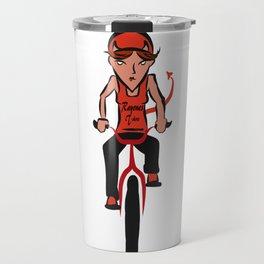 Devil woman cycling Travel Mug
